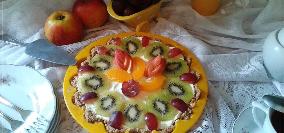 Prosta tarta z mascarpone i owocami (autor: monikat83 ...