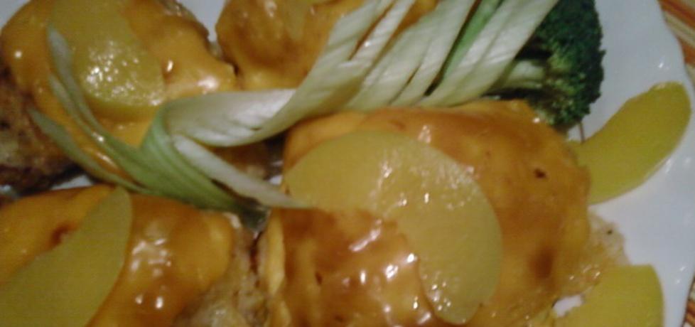 Piersi kurczaka nadziewane brzoskwiniami. (autor: benka ...