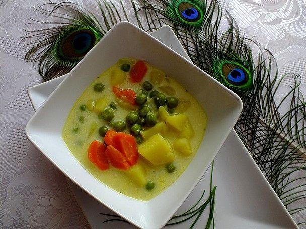 Przepis  warzywna zupa z serkiem topionym przepis