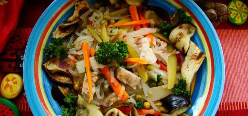 Makaron z warzywami z woka (autor: iwa643)