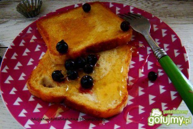 Przepis  śniadaniowe tosty z miodem przepis