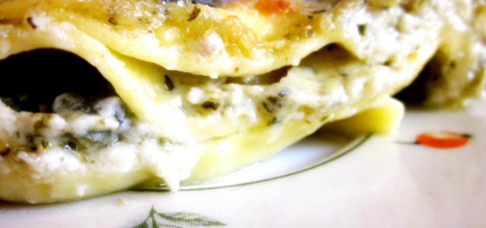 Lasagne o smaku pesto z ziemniakami i fasolką szparagową (autor ...
