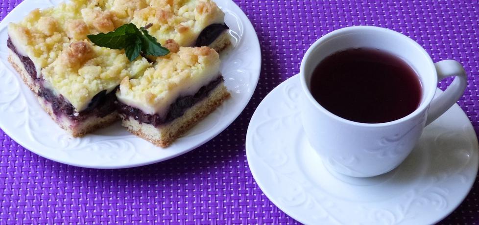 Ciasto ze śliwkami i budyniem (autor: renatazet)