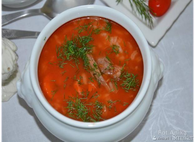 Sycąca Zupa Pomidorowa Z Ryżem I Wołowiną Przepis Ze Smakerpl