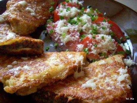 Przepis  chleb smażony z serem i pomidorami przepis