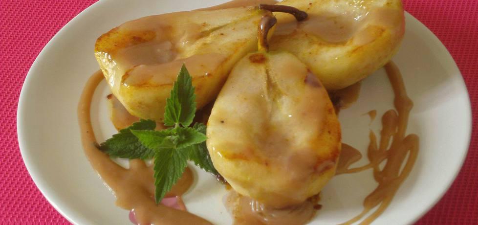 Karmelizowane gruszki z sosem piernikowym (autor: katarzyna59 ...