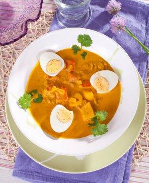 Curry z jajek  prosty przepis i składniki