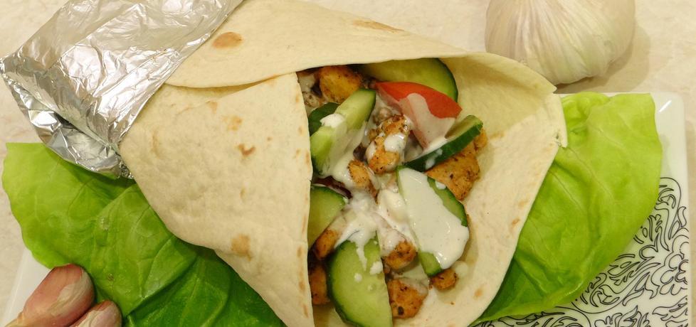 Tortilla z gyrosem i warzywami (autor: kasnaj)