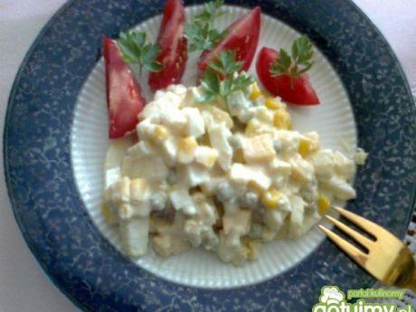 Przepis  sałatka jajeczno-chrzanowa wg zabecki przepis