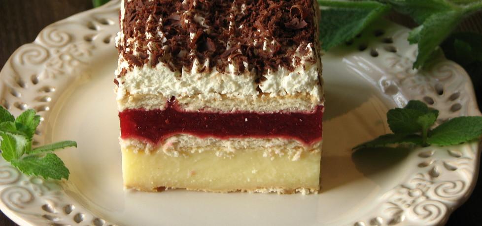 Ciasto z truskawkami bez pieczenia (autor: bogusia