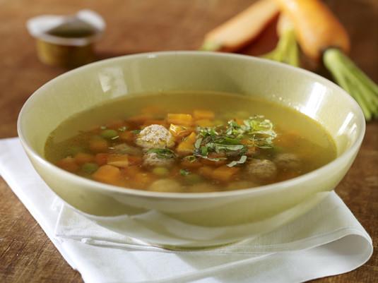 Szybka jesienna zupa z klopsikami