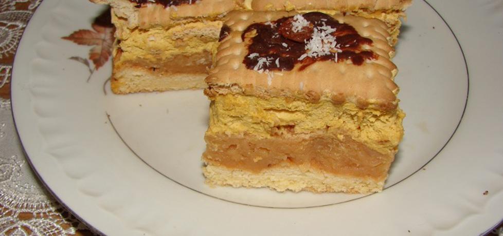 Ciasto jabłkowe z masą krówkową (autor: motorek)