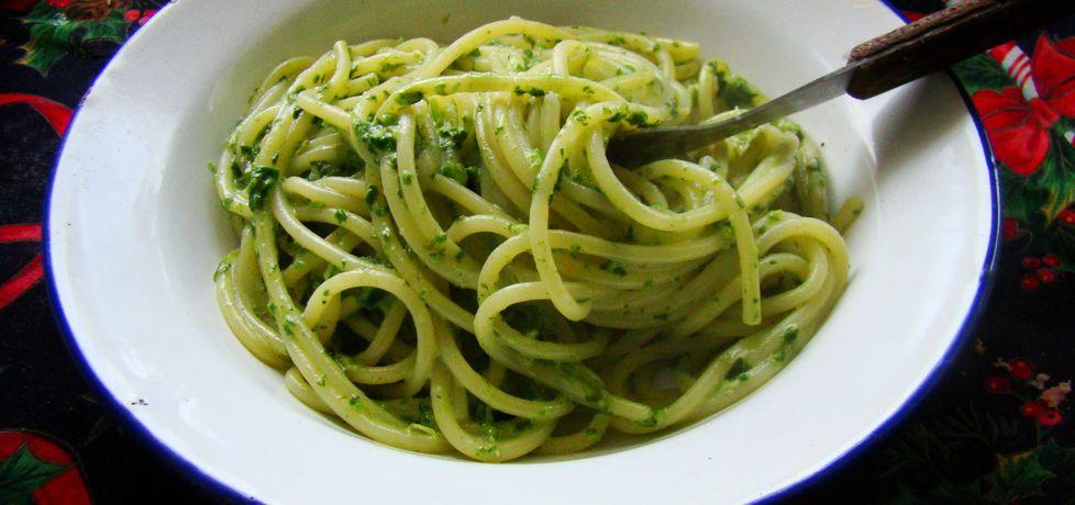 Spaghetti ze szpinakiem i słodką śmietanką (autor: iwa643 ...