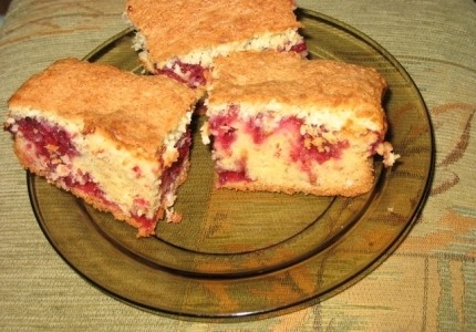 Pyszne ciasto malinowe