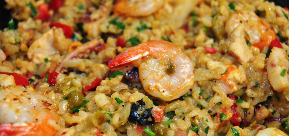 Paella z kurczakiem i owocami morza (autor: rng