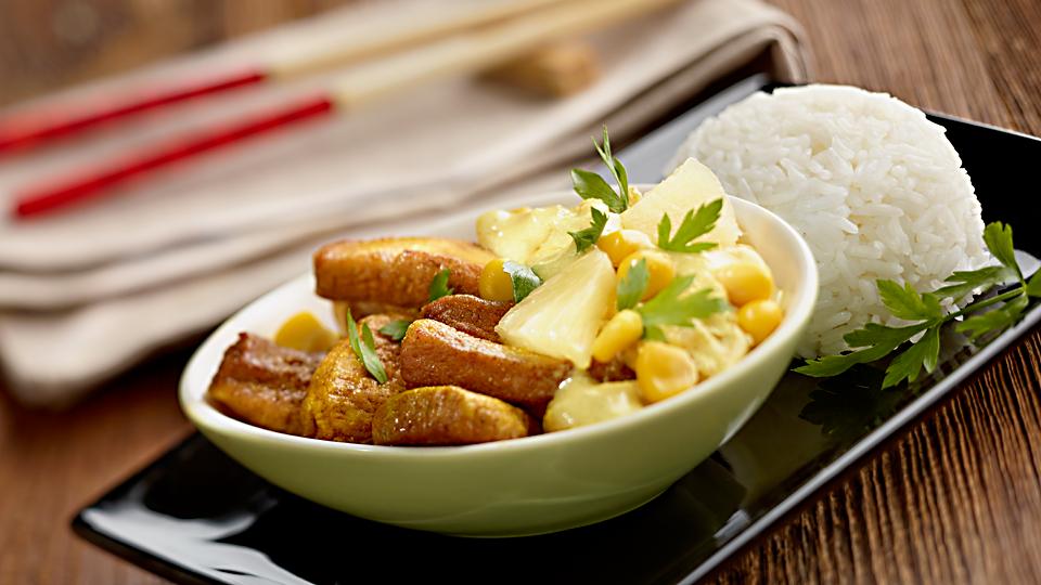 Przepis na kurczaka curry z ananasem