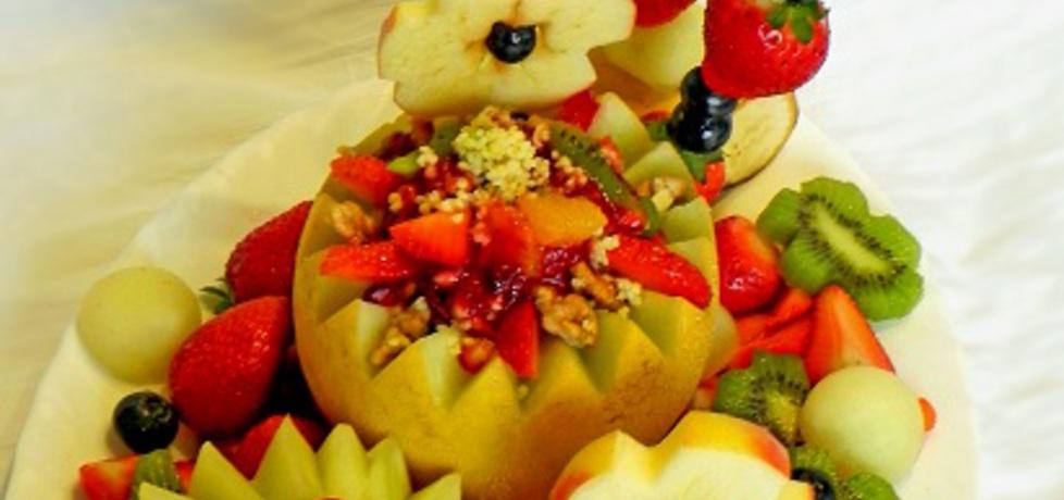 Sałatka owocowa z kaszą jaglaną i orzechami (autor: lucja ...