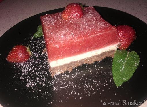 Ciasto z truskawkowym musem i cytrynową pianką