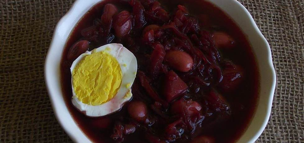 Barszcz ukraiński z jajkiem (autor: konczi)