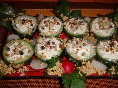 Sushi z zielonego ogórka