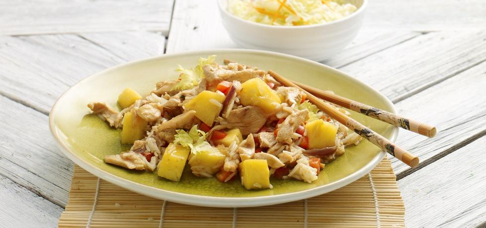 Kurczak po chińsku z ryżem, papryką i ananasem (autor: doradca ...