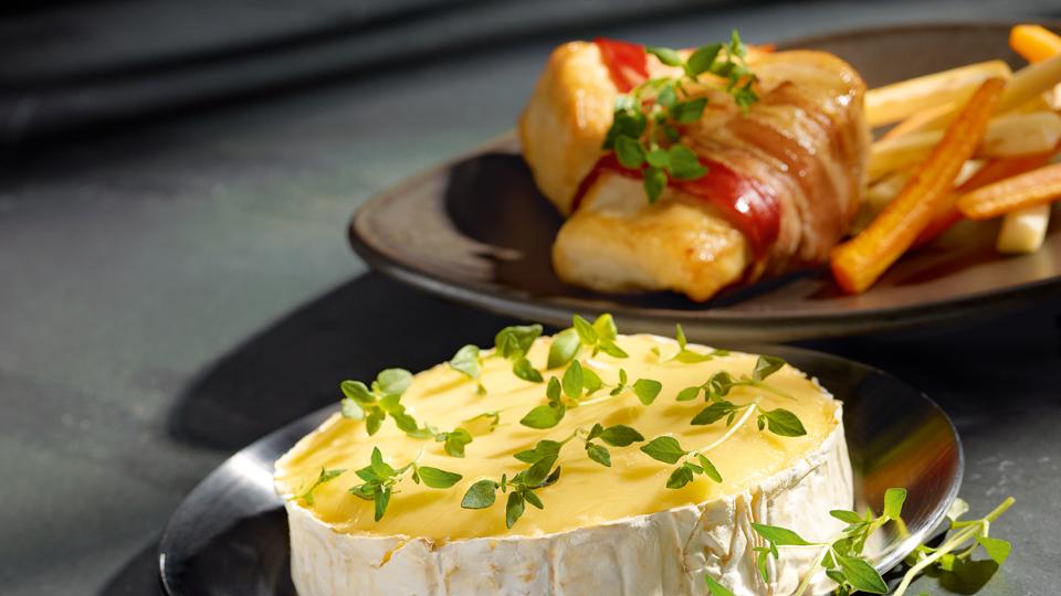 Przepis na camembert z warzywami i kurczakiem