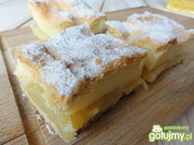Przepis  ciasto jabłkowo- budyniowe przepis