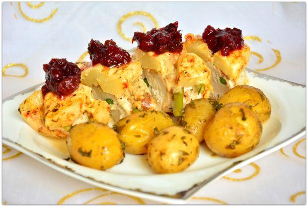 Przepis  filet zapiekany z serem i ananasem przepis