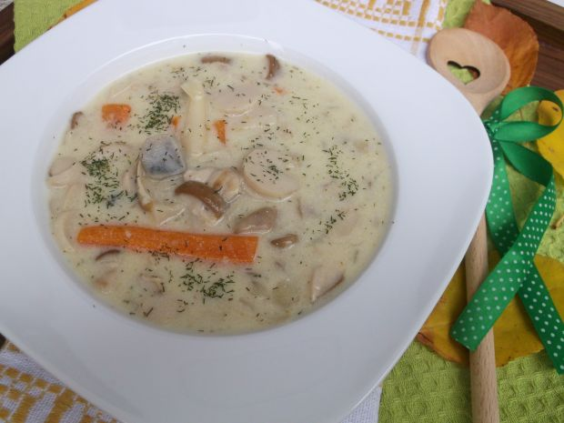 Przepis  zupa ze świeżych leśnych grzybów przepis