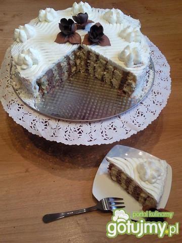 Przepis  tort śmietankowo – czekoladowy przepis