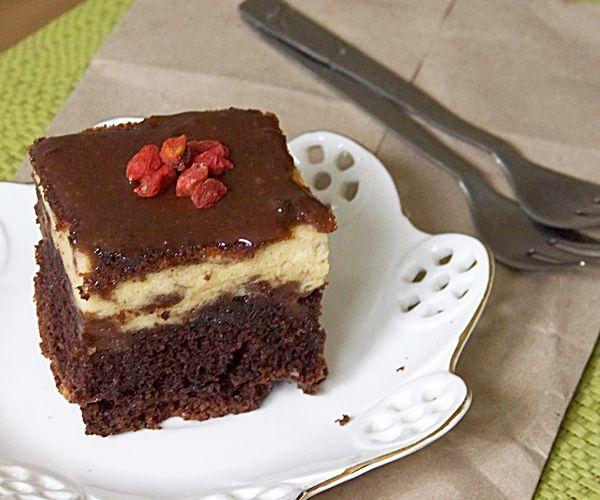 Przepis  ciasto izaura- sernik na murzynku przepis