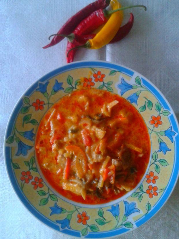 Przepis  czerwone curry z owocami morza przepis