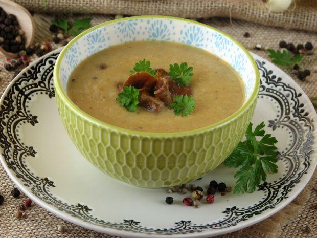 Przepis  zupa krem z kurek przepis