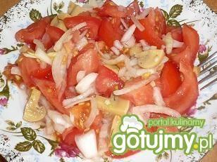 Przepis  pomidorowa sałatka z pieczarkami przepis