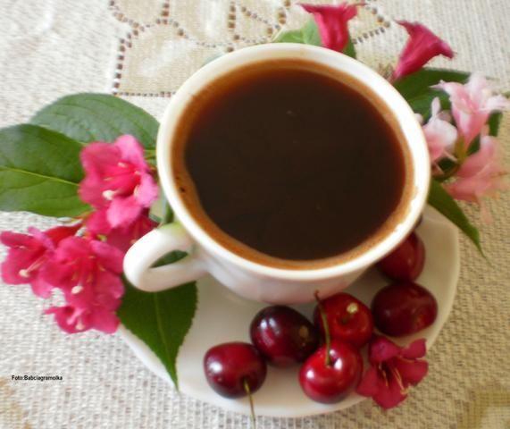Przepis  kawa aromatyzowana wiśniami : przepis