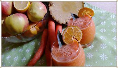 Koktajl marchewkowy z ananasem bez cukru ...