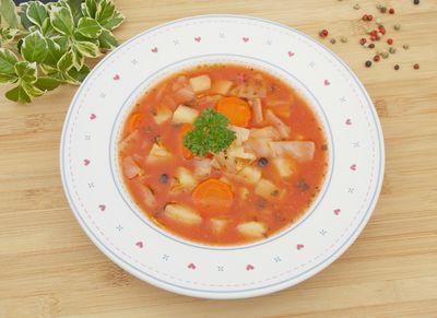 Zupa ze słodkiej kapusty