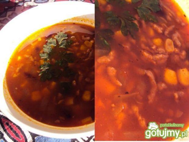 Przepis  zupa meksykańska wg przejs przepis