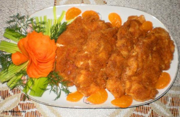Przepis  piersi kurczaka w panierce serowej przepis