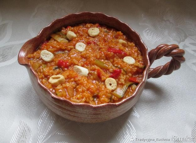 Warzywna potrawa z ryżem (minestrone )