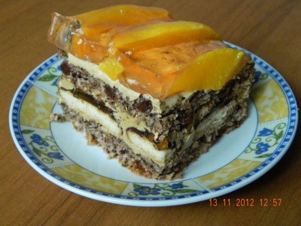 Przepis  ciasto orzechowe z masą kawową przepis