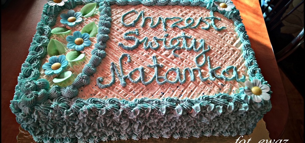 Tort na chrzest dla chłopca zewy (autor: zewa)