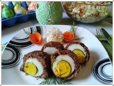 Pieczone jajka po szkocku z koperkową nutą