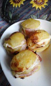 Ziemniaki zapiekane z szynką i serem