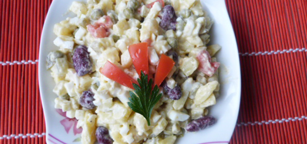 Sałatka warzywna z czerwoną fasolą (autor: renatazet ...
