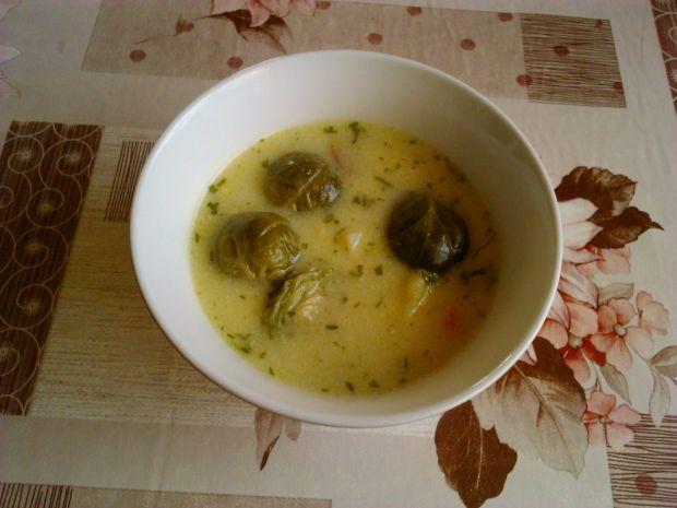 Przepis  zupa z brukselkami przepis