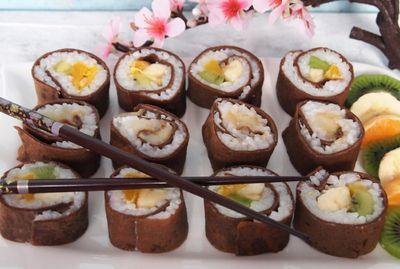 Naleśnikowe sushi dla łasuchów