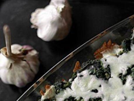 Przepis  zapiekanka ze szpinakiem i mozzarellą przepis