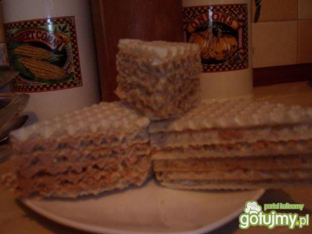 Przepis  kajmakowo-czekoladowa masa do wafla przepis