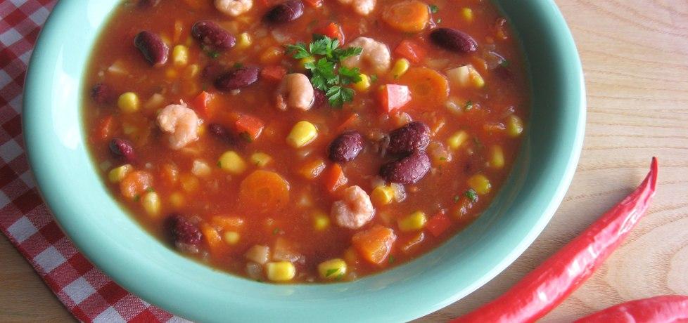 Pikantna zupa meksykańska z krewetkami (autor: anemon ...